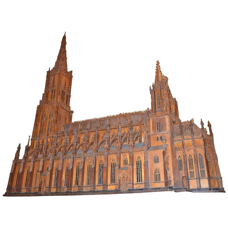 Antique Model of Ulm Cathedral For Sale