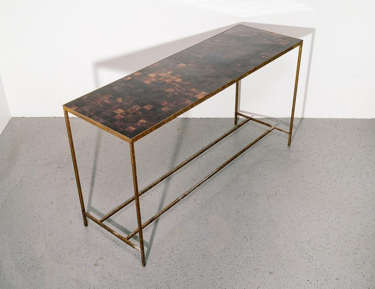 Antique Modernist Tortoiseshell Console Table In Good Condition For Sale In Brooklyn, NY