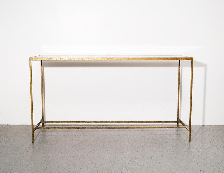 20th Century Antique Modernist Tortoiseshell Console Table For Sale