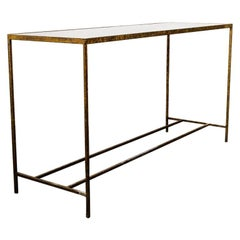 Antique Modernist Tortoiseshell Console Table