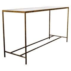Antique Modernist Tortoiseshell Console Table