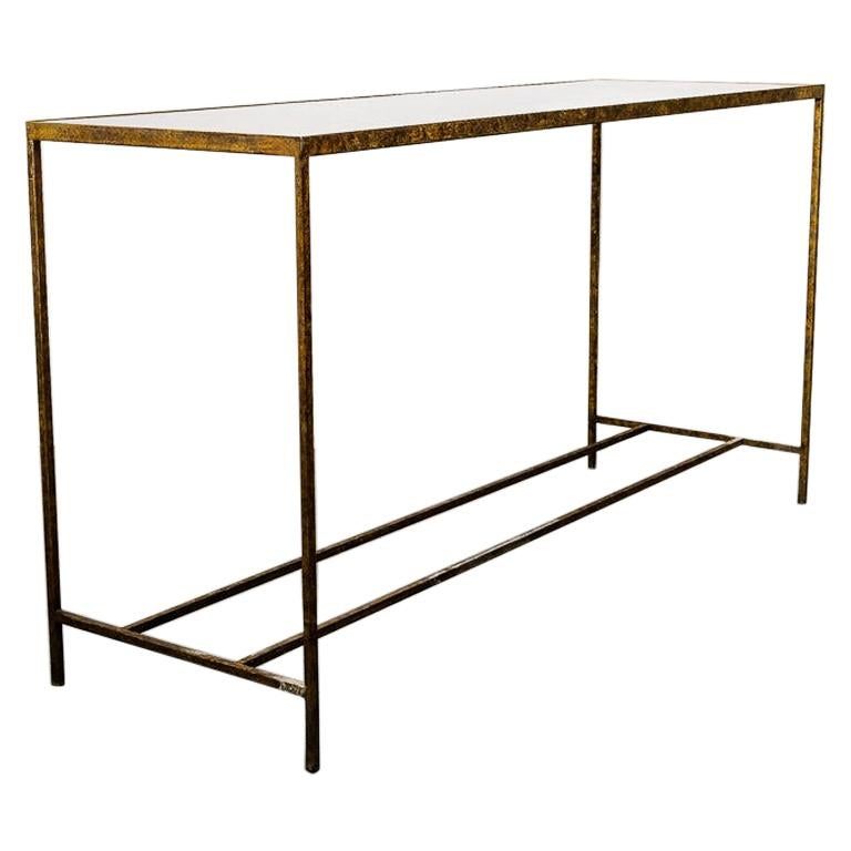 Antique Modernist Tortoiseshell Console Table For Sale