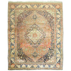 Antique Mohtasham Kashan Room Size Rug