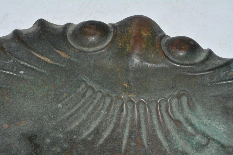 Antique Molded Copper Dust Pan In Good Condition For Sale In Great Barrington, MA