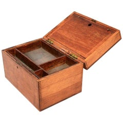 Antique Money Box Coin Cash Storage Drawer in Solid Maple Wood