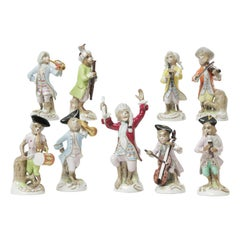 Antique Monkey Band Orchestra by Dresden, Finely Hand Painted and Whimsical