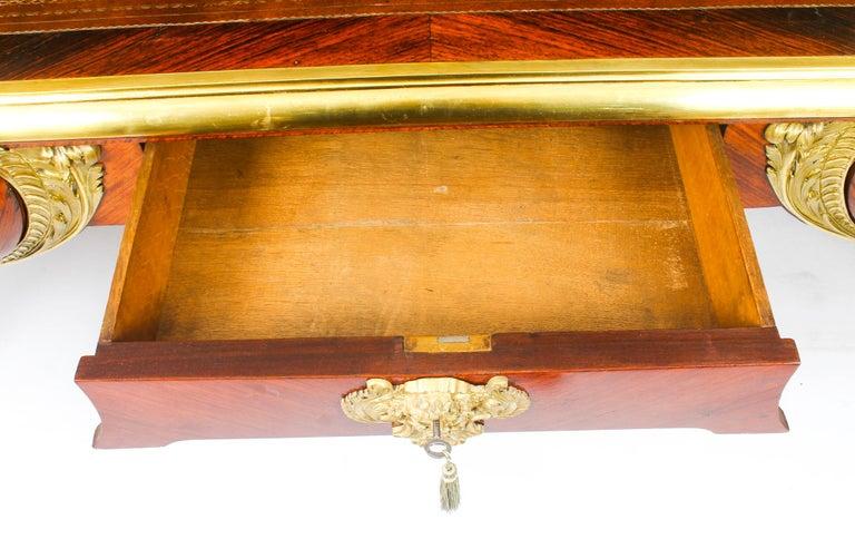 Antique Monumental French Ormolu-Mounted Bureau Plat Desk, 19th Century For Sale 9