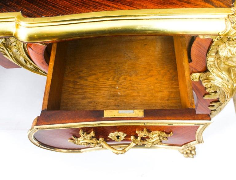 Antique Monumental French Ormolu-Mounted Bureau Plat Desk, 19th Century For Sale 10