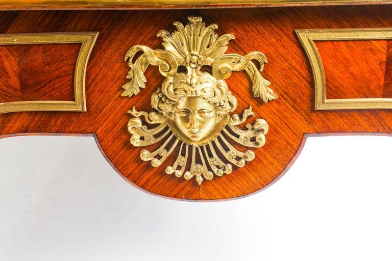 Antique Monumental French Ormolu-Mounted Bureau Plat Desk, 19th Century For Sale 14