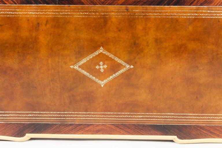 Mid-19th Century Antique Monumental French Ormolu-Mounted Bureau Plat Desk, 19th Century For Sale