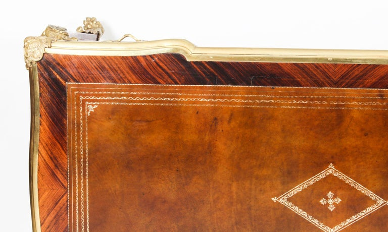 Antique Monumental French Ormolu-Mounted Bureau Plat Desk, 19th Century For Sale 2