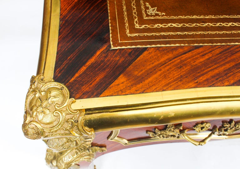 Antique Monumental French Ormolu-Mounted Bureau Plat Desk, 19th Century For Sale 3