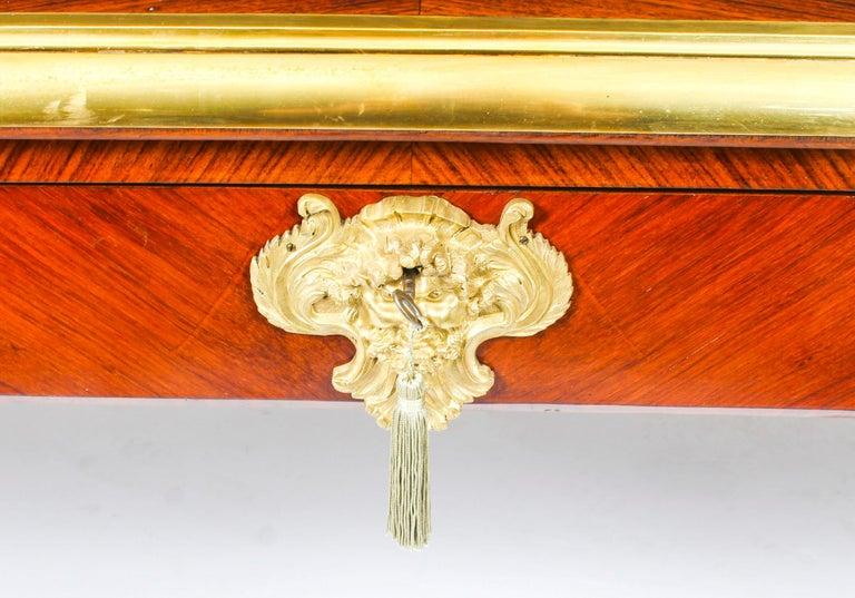 Antique Monumental French Ormolu-Mounted Bureau Plat Desk, 19th Century For Sale 5