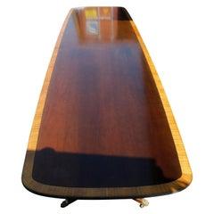 Antique Monumental Kittinger Mahogany Triple Pedestal Conference Table, C1920