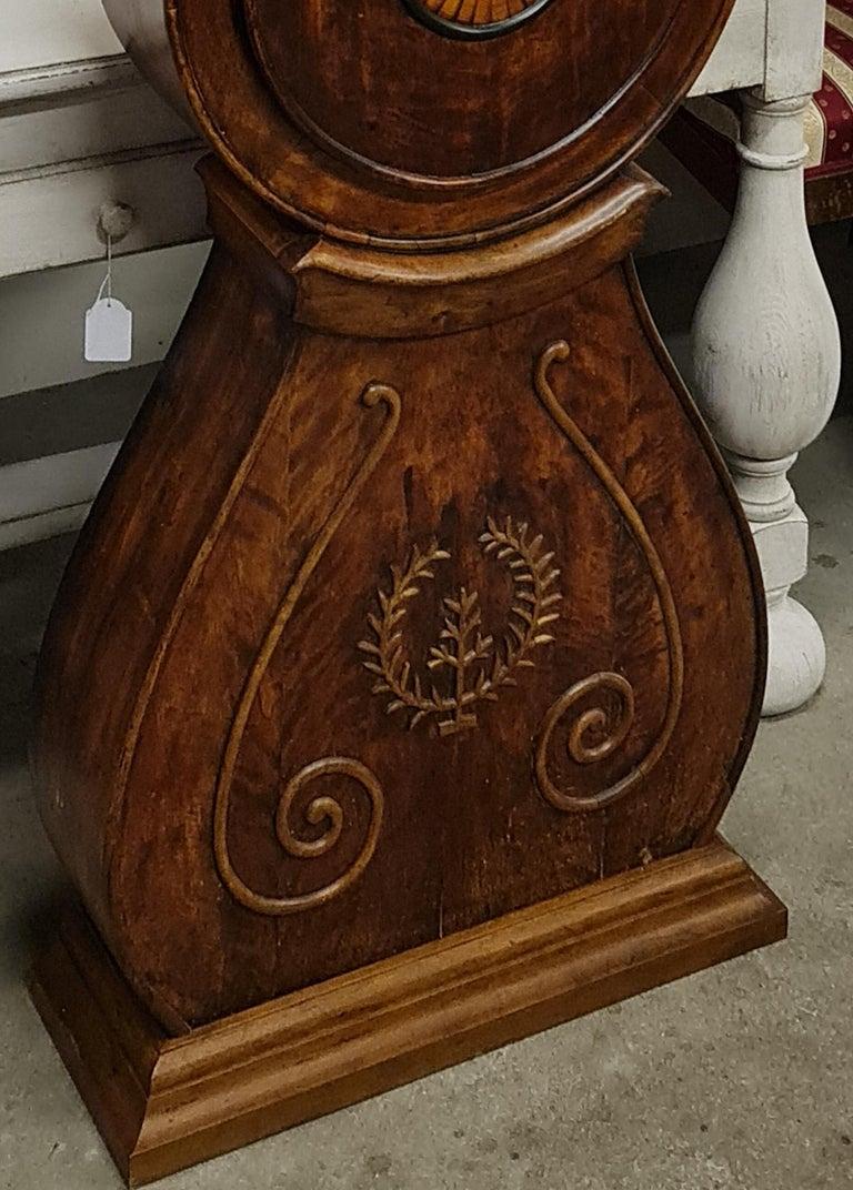 Antique Mora Clock Swedish Biedermeier Ormolu 1800s Gustavian Grandfather In Good Condition For Sale In LONDON, GB