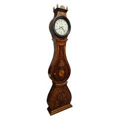 Antique Mora Clock Swedish Biedermeier Ormolu 1800s Gustavian Grandfather