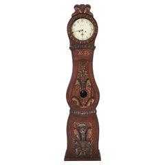 Antique Mora Clock Swedish Folk Art 1845 Kurbits Dalarna Gustavian