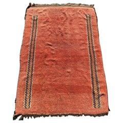 Antique Moroccan Berbere Tribal Art Deco Rug