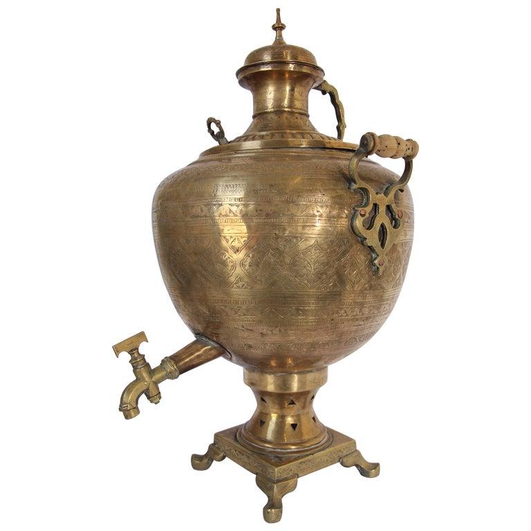 Large Copper Planter Urn Neo-Classical Antique William IV English 1830s Samovar Hot Water Vase