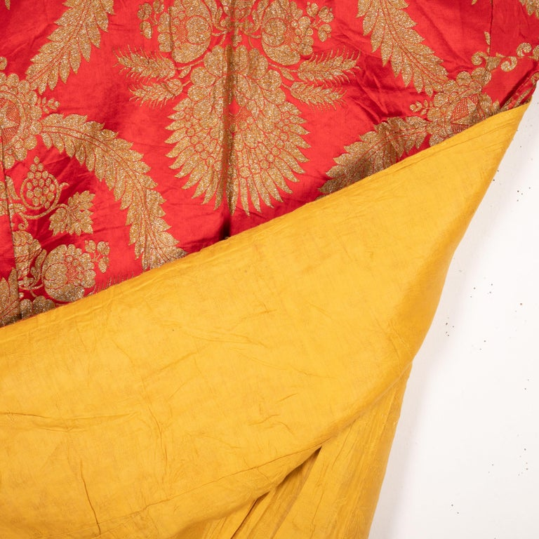 Woven Antique Moroccan Brocaded Kaftan, Early 20th Century For Sale