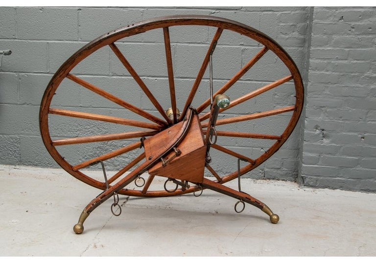 Antique Moroccan Cart Wheel Coffee Table For Sale 2