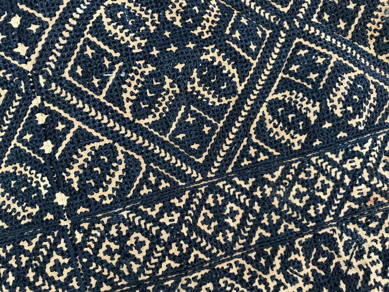 Antique Moroccan Fez Embroidery for Pillow For Sale 3