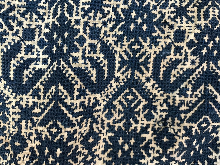 Antique Moroccan Fez Embroidery for Pillow For Sale 4
