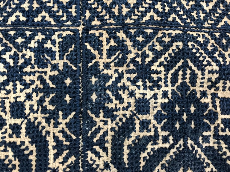 Antique Moroccan Fez Embroidery for Pillow For Sale 5