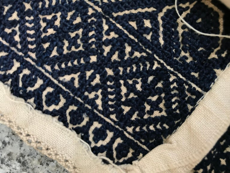 Antique Moroccan Fez Embroidery for Pillow For Sale 7