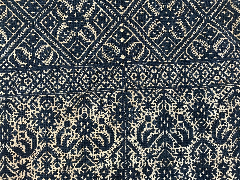 Embroidered Antique Moroccan Fez Embroidery for Pillow For Sale