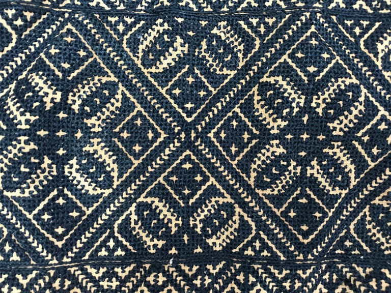 Antique Moroccan Fez Embroidery for Pillow In Fair Condition For Sale In Saint Ouen, FR