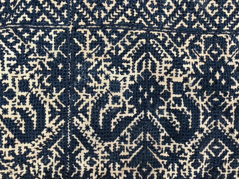 19th Century Antique Moroccan Fez Embroidery for Pillow For Sale