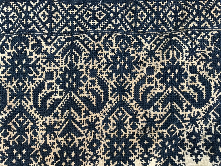 Antique Moroccan Fez Embroidery for Pillow For Sale 1
