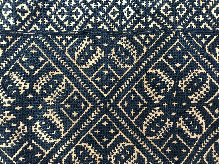 Antique Moroccan Fez Embroidery for Pillow For Sale 2