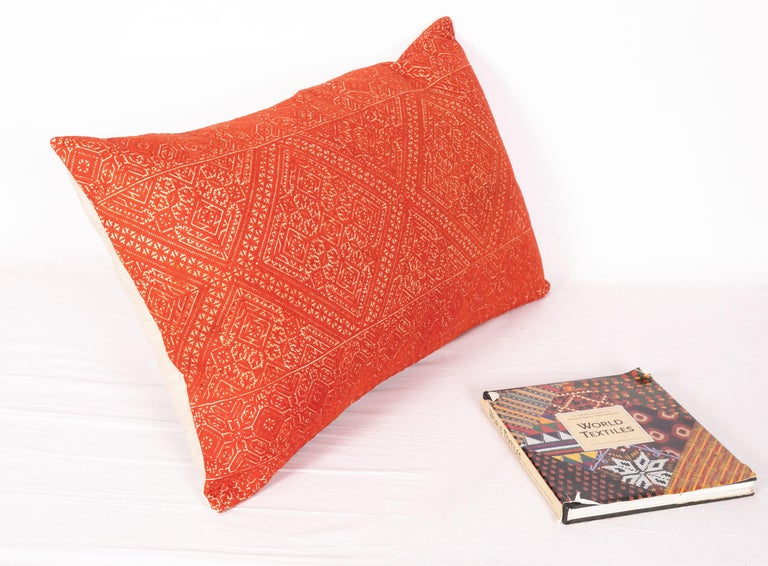 Suzani Antique Moroccan Fez Embroidery Pillow Case, Early 20th Century For Sale