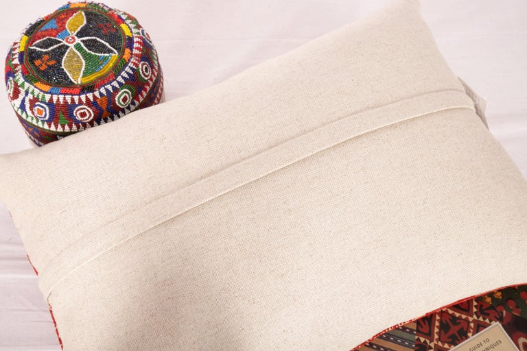 Antique Moroccan Fez Embroidery Pillow Case, Early 20th Century In Good Condition For Sale In Istanbul, TR