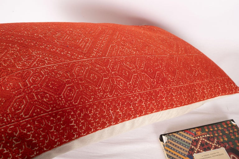 Antique Moroccan Fez Embroidery Pillow Case, Early 20th Century For Sale 1