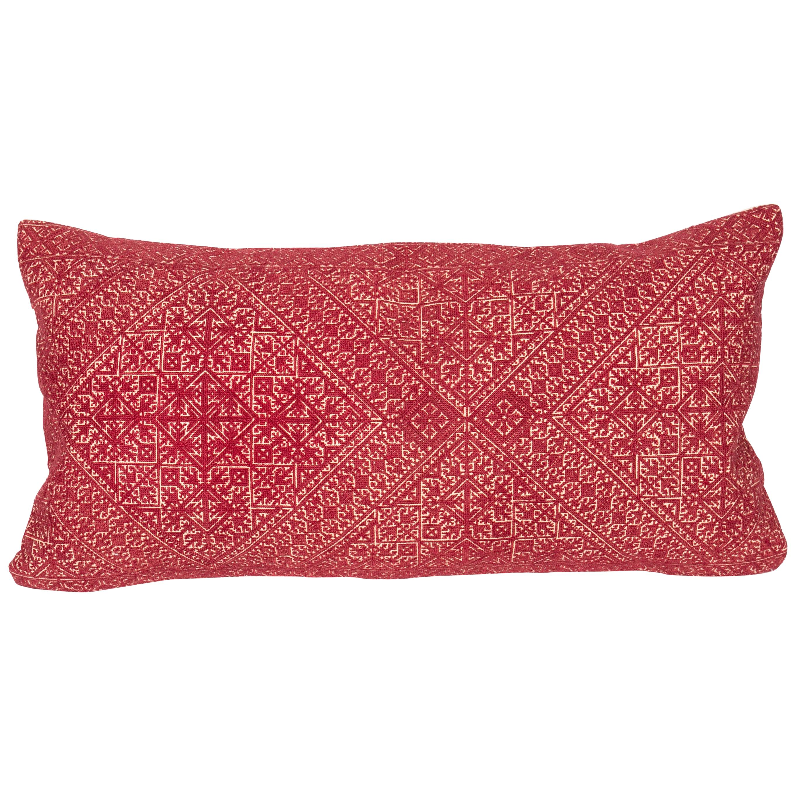 Antique Moroccan Fez Embroidery Pillow Case, Early 20th Century
