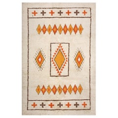 Antique Moroccan North African Rug