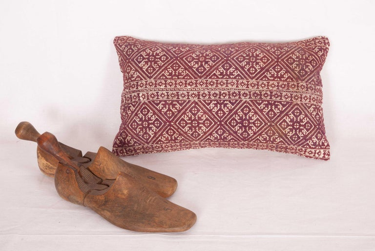 Embroidered Antique Moroccan Pillow Case Fashioned from a Fez Embroidery, Early 20th Century For Sale