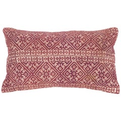 Antique Moroccan Pillow Case Fashioned from a Fez Embroidery, Early 20th Century