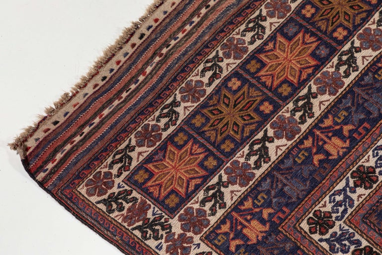 Antique Moroccan Rug with Floral Motif In Good Condition For Sale In Los Angeles, CA