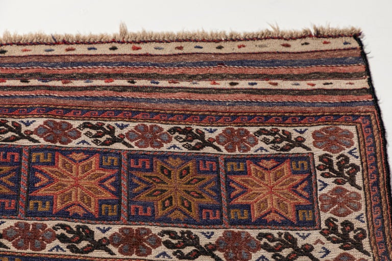 Antique Moroccan Rug with Floral Motif For Sale 1