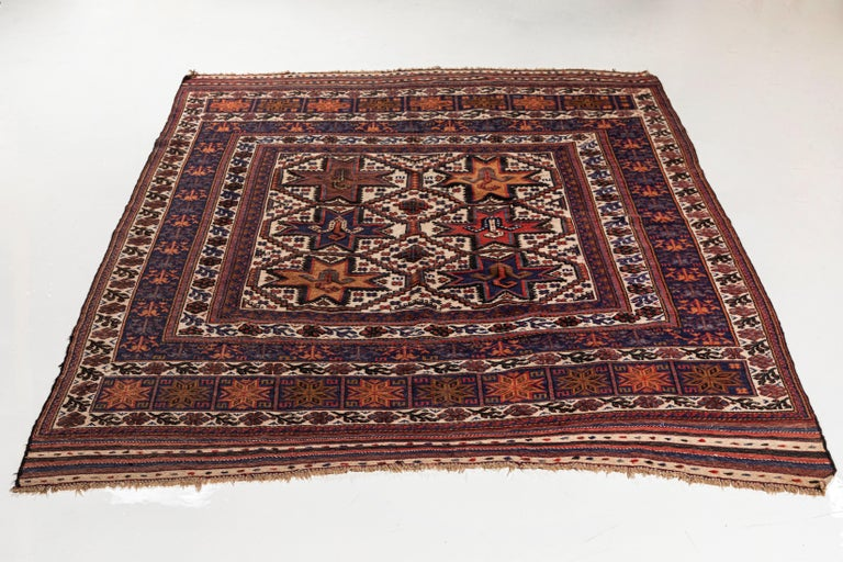 Antique Moroccan Rug with Floral Motif For Sale 3