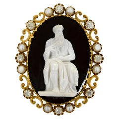 Antique Moses Cameo Brooch