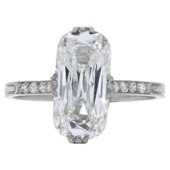 Neil Lane Couture Antique Moval-Shaped Diamond And Platinum Ring