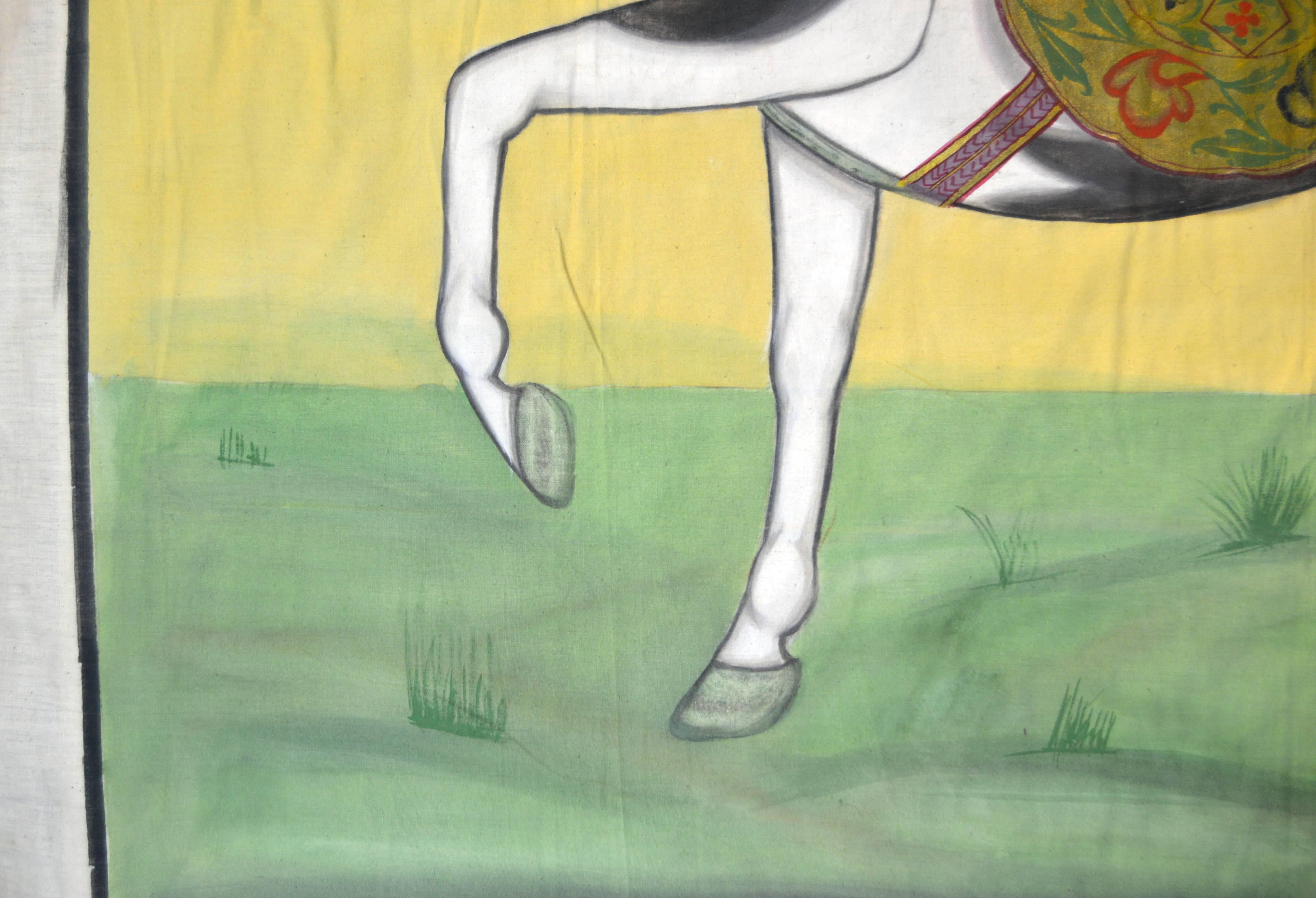 Antique Mughal Indian Horse Painting At 1stdibs