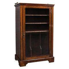 Antique Music Cabinet, English, Rosewood, Display Case, Victorian, Circa 1900