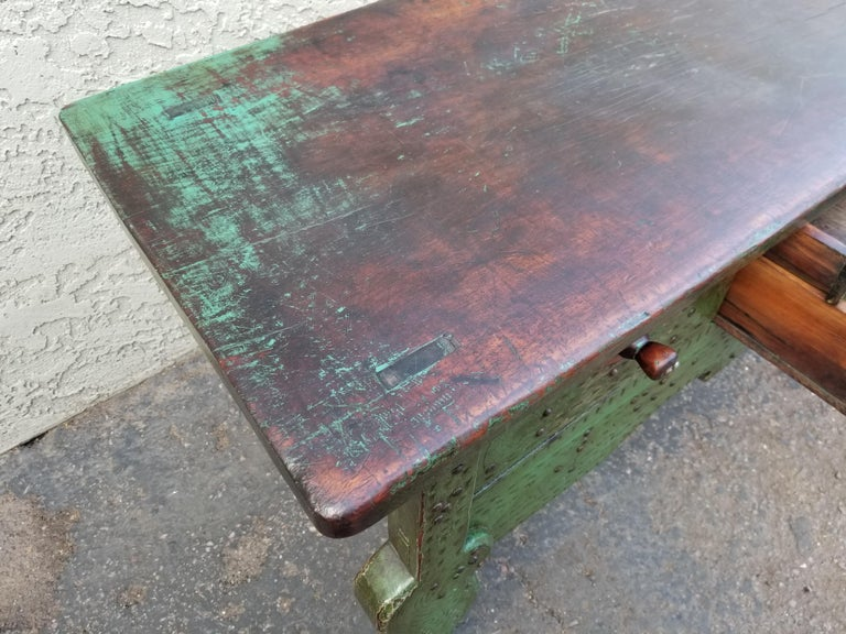 Wood Antique Nahuala Table For Sale