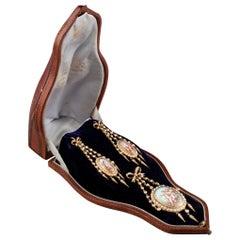 Antique Napoleon III Earrings and Pendant